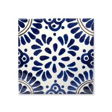 Uriarte talavera artesan a mexicana vajillas - Azulejo 15x15 blanco ...